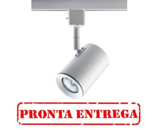 PRONTA ENTREGA / Spot Bella Iluminação Beam Trilho Regulavel Metal Branco 11x5,5cm 1 GU10 Dicróica DL044B Sala Estar Escritórios