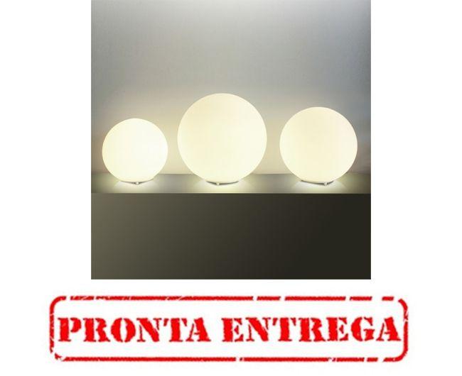 PRONTA ENTREGA - Abajur Golden Art Contemporâneo Esfera Opalina Cúpula Vidro Fosco 42cm Altura (H) E-27 M755-42 Mesas Quartos