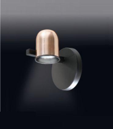 Arandela Old Artisan Cone Redondo Esfera Cupula Cobre Escovado 13,5x12cm 1x GU10 110 220v Bivolt AR-4972 Hall e Sala Estar