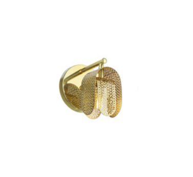 Arandela Old Artisan Grade Curva Redonda Metal Dourado 16x12cm 1x G9 Halopin 110 220v Bivolt AR-5130 Hall e Sala Estar