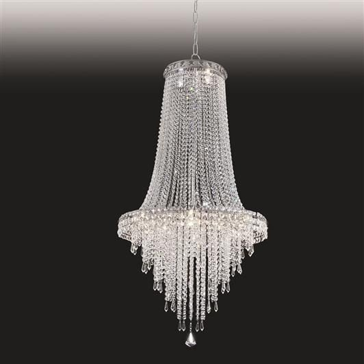 Lustre Old Artisan Imperial Pêndulo Cristal K9 125x80cm 24x G9 Halopin 110 220v Bivolt PD4788-24 Sala Estar e Hall