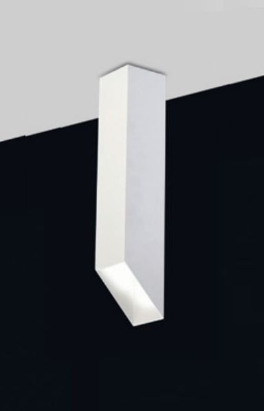 Plafon Old Artisan Minimalista Contemporâneo Linear Metal Branco 30x7,6cm 1x PAR20 110 220v Bivolt EMB-4982 Escadas e Hall