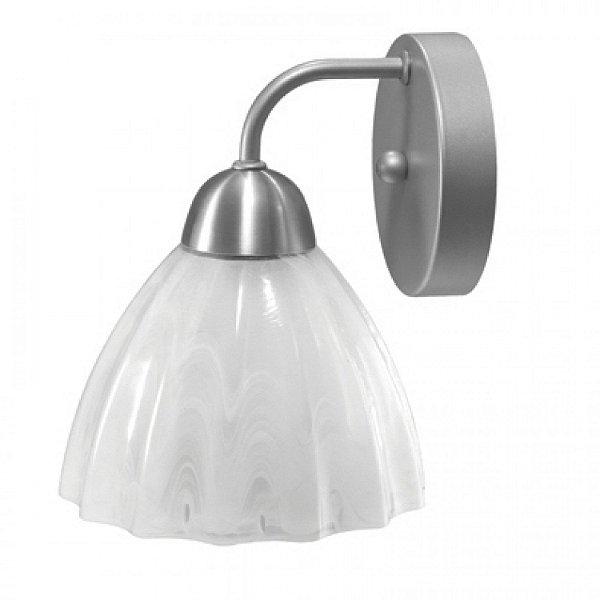 Arandela MadeLustre 2071AE Vesuvio Estilo Antigo Cupula Vidro Tulipa 1 Lamp. 23x19cm Parede Muro Banheiro Sala