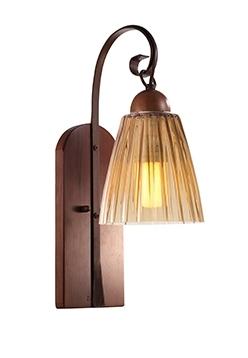 Arandela MadeLustre 2233/89 Florença Estilo Antigo Rustico Madeira Colonial Metal de Fundição 1 Lamp. 2153 52cm x 15cm Parede Muro Banheiro Sala