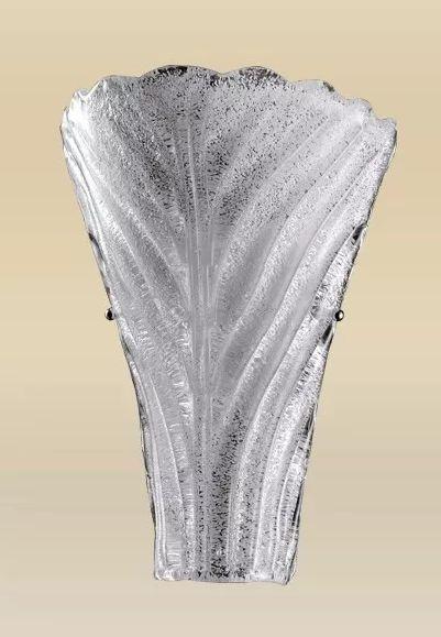 Arandela MadeLustre 2250 Riga Grande Estilo Antigo Cupula Vidro Tulipa 1 Lamp. 38x15cm Parede Muro Banheiro Sala