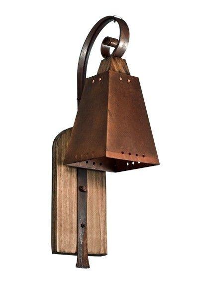 Arandela MadeLustre 2295 Napoli 1 lamp Estilo Antigo Rustico Madeira Colonial Metal de Fundição caneco pequeno envelecido 52x23cm Parede Muro Banheiro Sala