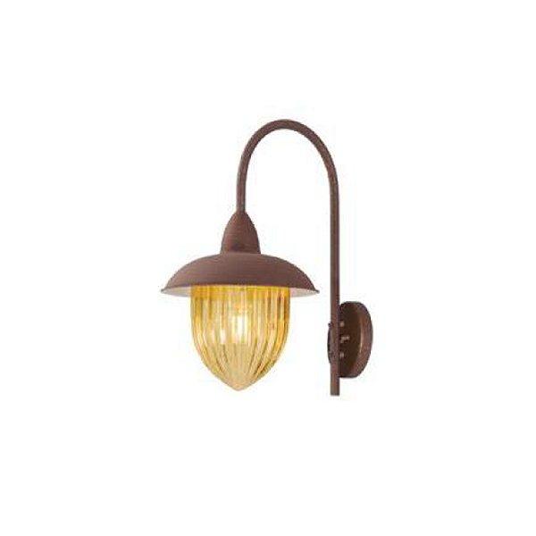 Arandela MadeLustre 2580/89 Veneza Estilo Antigo Rustico Metal de Fundição Ambar 1 Lamp. 1m Parede Muro Banheiro Sala