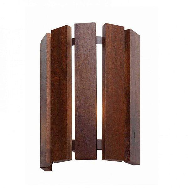 Arandela MadeLustre 2675 Castor Madeira Colonial Lustre Rustico 20 x 15,5 cm 2 Lamp. G9 Parede Muro Banheiro Sala