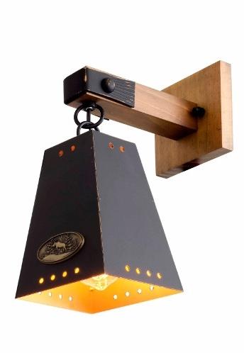 Arandela MadeLustre 2851PD Madeira Colonial Metal Rustico Estilo Antigo ALP 1 Lamp. 34x28cm Parede Muro Banheiro Sala