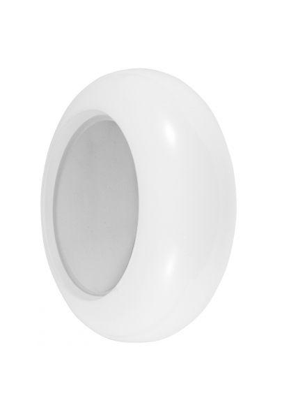 Arandela Madelustre Amb. Interno Redonda Branca Metal Inox Vidro Leite Ø20 Acrux E-27 2494   Parede Muro Banheiro Sala