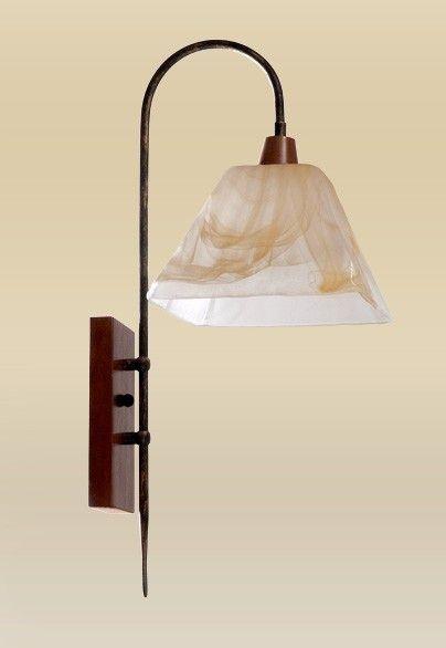 Arandela Madelustre Rústica Vidro Acetinado Âmbar Metal Ouro 29x24 Quadrato E-27 2106   Parede Muro Banheiro Sala