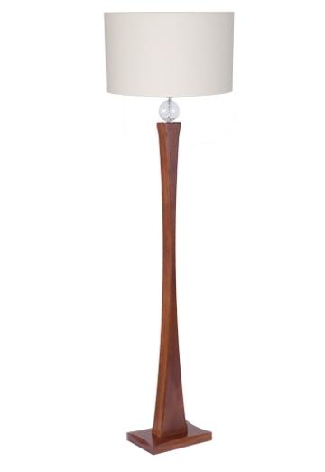 Coluna Luminária Piso MadeLustre 2706/SC Delicata Madeira Colonial Rustica Imbuia Abajur de Chao em Pe