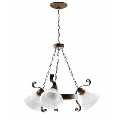 Lustre Madelustre 2099/3 Sombrero Madeira Natural Rustica Estilo Antigo Metal de Fundição 3 Lamp. 1m x 67cm Sala de Jantar Quarto e Cozinha