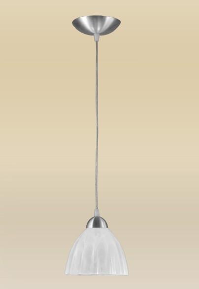 Pendente MadeLustre 2069/1AE Vesuvio Estilo Antigo Cupula Vidro Tulipa 1 Lamp. 1,30m Sala de Jantar Quarto e Cozinha