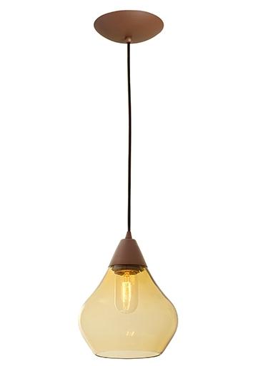 Pendente MadeLustre 2787/89 Madri Estilo Antigo Vidro Filamento Vertical Âmbar Dourado Redondo Ø18cm Sala de Jantar Quarto e Cozinha