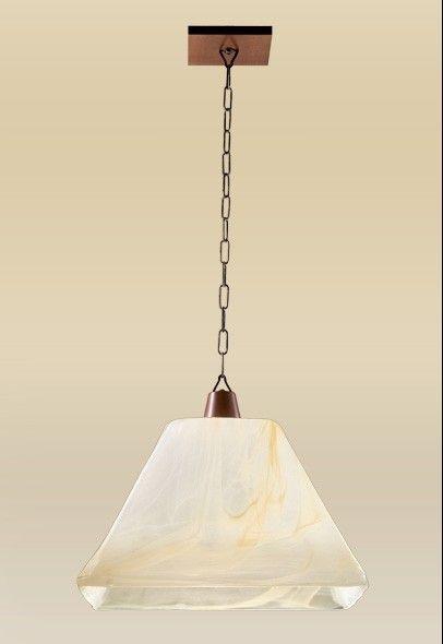 Pendente Madelustre Rústico Madeira Natural Âmbar Cúpula Pirâmide Vidro Acetinado Metal Ouro 38x34 Quadrato E-27 2102   Sala de Jantar Quarto e Cozinha