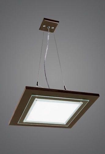 Pendente Madelustre Rústico Quadrado Madeira Natural Maciça Vidro 3 Lamp. Regulável 47x47 Monalisa E-27 18   Sala de Jantar Quarto e Cozinha