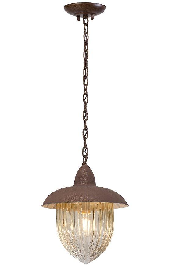 Pendente MadeLustre Veneza 2581/94 Estilo Antigo Rustico Metal de Fundição 1 Lamp. 1m Sala de Jantar Quarto e Cozinha