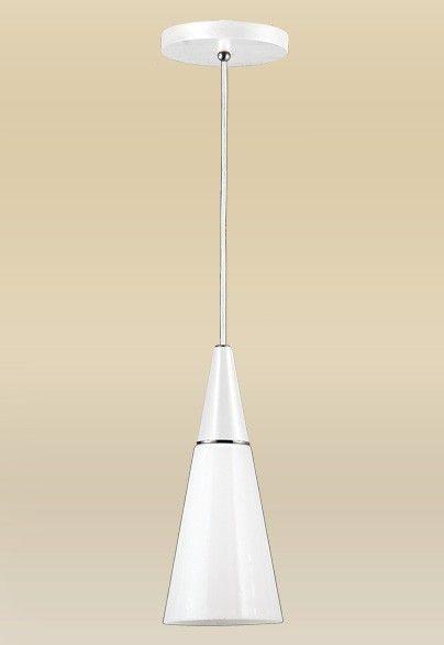 Pendente Madelustre Vertical Cônico Branco Vidro Leite Triplex Regulável Ø18cm Cone E-27 62086.27   Sala de Jantar Quarto e Cozinha