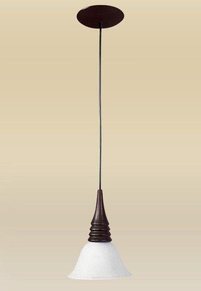 Pendente Madelustre Vertical Rústico Madeira Natural Maciça Cúpula Tulipa Vidro Fosco Ø18cm Crysalis E-27 71   Sala de Jantar Quarto e Cozinha