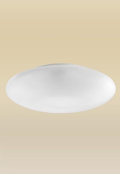 Plafon MadeLustre 2089/64 Ambience Redondo Ø 30cm 2 Lamp. Vidro Leite Sobrepor Sala Quarto e Cozinha