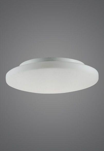 Plafon MadeLustre 2471 Antares 3 Lamp. Redondo Ø 40cm Vidro Leite Sobrepor Sala Quarto e Cozinha
