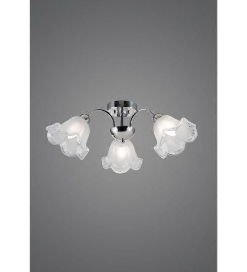 Plafon Madelustre ier Tecla 3 Lamp. E-27 2355 Sobrepor Sala Quarto e Cozinha