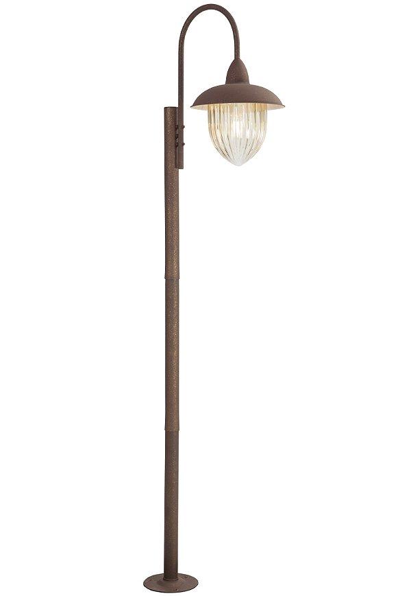 Poste de Jardim Madelustre Veneza 2589/94 Estilo Antigo Rustico Metal de Fundição 1 Lamp. 2m Sobrepor Sala Quarto e Cozinha