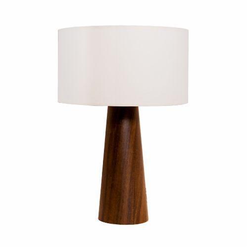 Abajur Accord Iluminação Pé Cônico Cupula Cilindro Madeira Natural 61x40cm 1x E27 110v 220v Bivolt 7026 Quartos Sala Estar