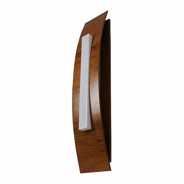 Arandela Accord Iluminação Barca Cilindro Linear Madeira Natural 100x20cm 3x E27 110v 220v Bivolt 454 Sala Estar Quartos