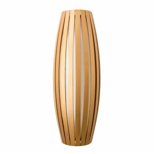 Arandela Accord Iluminação Barril Ripas Linear Madeira Natural 100x25cm 3x E27 110v 220v Bivolt 4041 Sala Estar Entradas