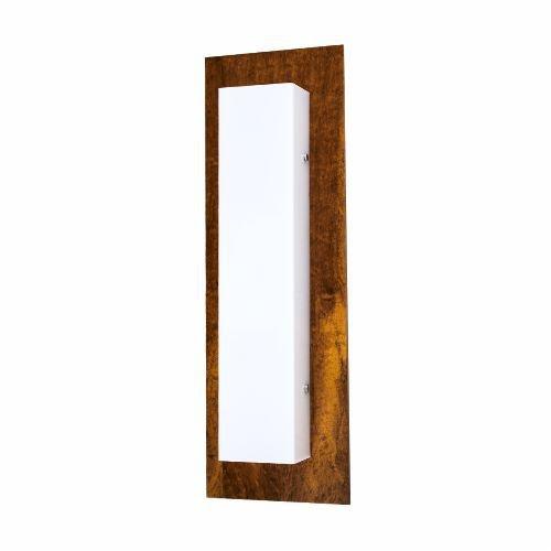 Arandela Accord Iluminação Clean Basica Linear Madeira Natural 60x20cm 2x E27 110v 220v Bivolt 437 Sala Estar Quartos