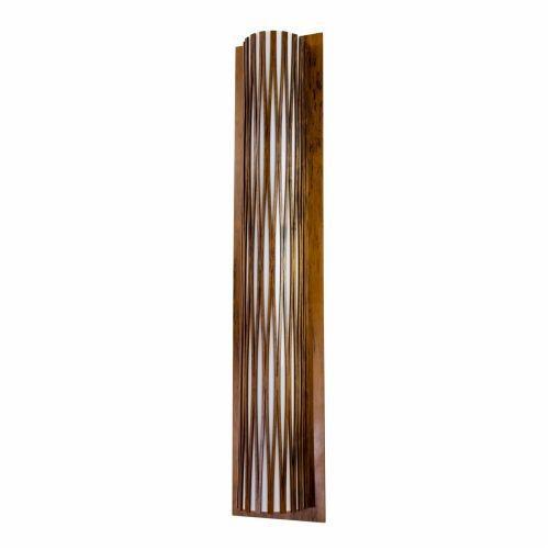 Arandela Accord Iluminação Living Hinges Tubular Linear Madeira Natural 100x20cm 2x E27 4067 Mesa Jantar Balcões