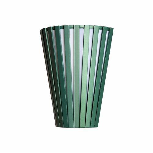 Arandela Accord Iluminação Ripas Cônico Linear Madeira Natural 30x23cm 1x E27 110v 220v Bivolt 456 Sala Estar Entradas