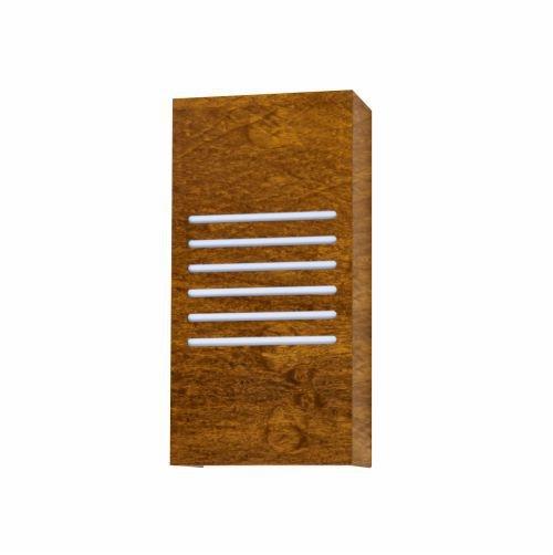 Arandela Accord Iluminação Riscos de Luz Clean Linear Madeira Natural 30x15cm 2x E27 459 Quartos Sala Estar