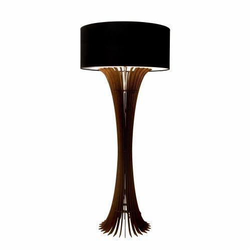 Coluna Accord Iluminação Stecche Di Legno Curva Cupula Madeira Natural 160x70cm 1x E27 110v 220v Bivolt 363 Sala Estar Quartos