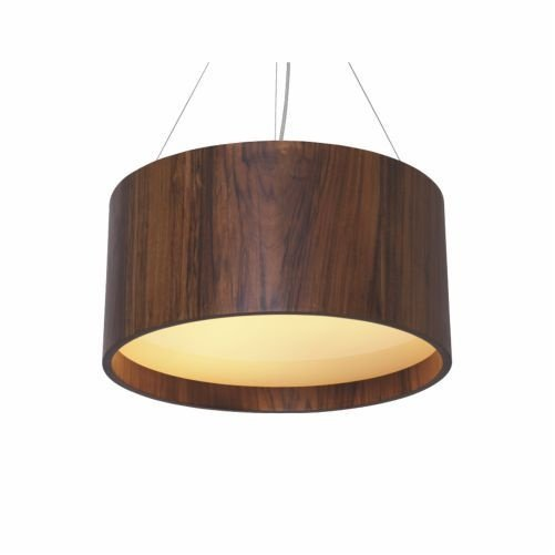 Pendente Accord Iluminação Cilindro Redondo Madeira Natural Vidro 25x60cm 3x E27 110v 220v Bivolt 206 Sala Estar Cozinhas