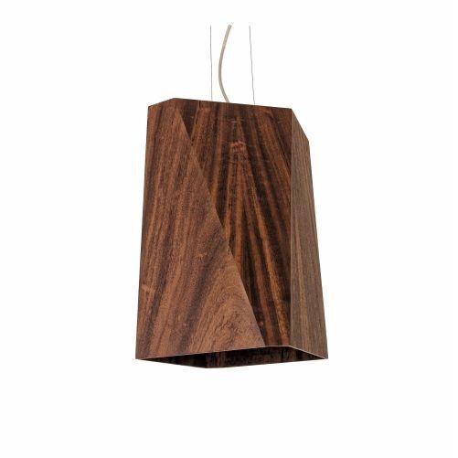 Pendente Accord Iluminação Kripton Facetado 6 Fases Madeira Natural 40x20cm 1x E27 110v 220v Bivolt 107 Cozinhas Sala Estar