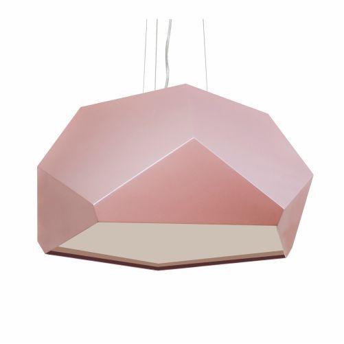 Pendente Accord Iluminação Moderno Multifacetado Madeira Natural 35x75cm 3x E27 110v 220v Bivolt 1227 Mesa Jantar Quartos