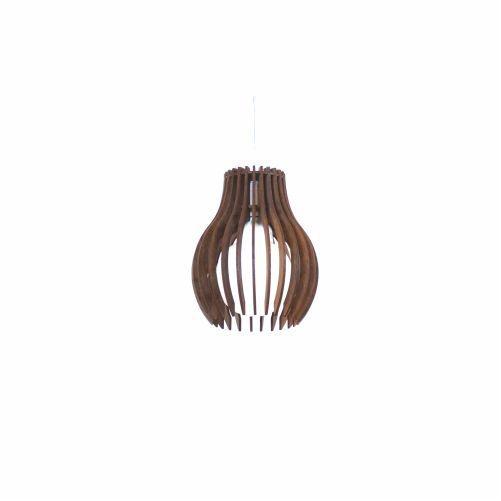 Pendente Accord Iluminação Stecche Di Legno Aramado Madeira Natural 22x18cm 1x E27 110v 220v Bivolt 1236 Sala Estar Cozinhas