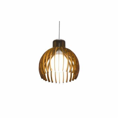 Pendente Accord Iluminação Stecche Di Legno Aramado Madeira Natural 22x21,5cm 1x E27 110v 220v Bivolt 1237 Sala Estar Cozinhas