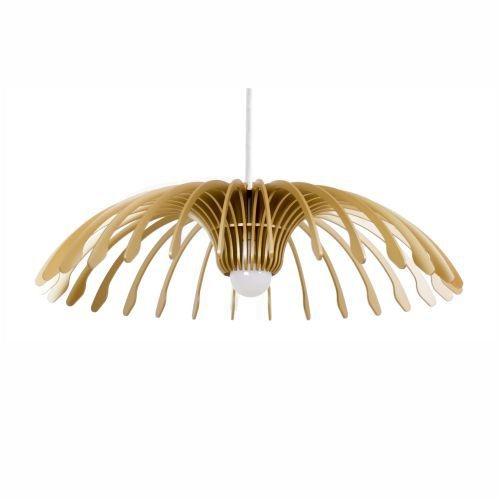 Pendente Accord Iluminação Stecche Di Legno Cascata Madeira Natural 15x60cm 1x E27 110v 220v Bivolt 1247 Sala Estar Cozinhas