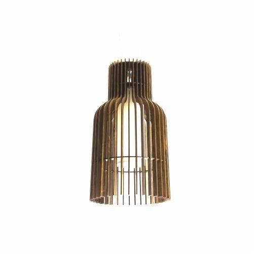 Pendente Accord Iluminação Stecche Di Legno Tubular Madeira Natural 50x24cm 1x E27 110v 220v Bivolt 1137 Sala Estar Hall