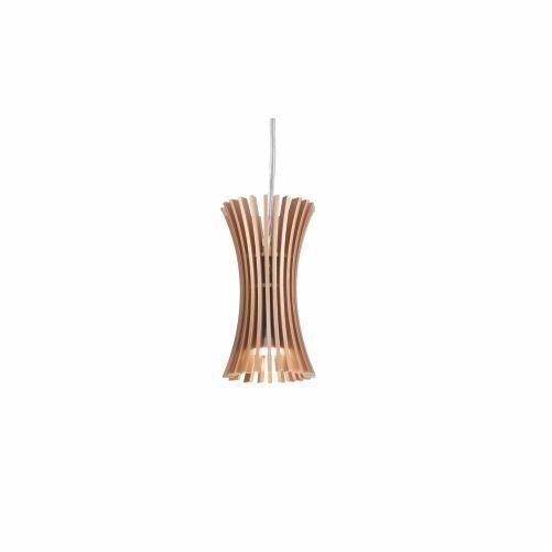 Pendente Accord Iluminação Stecche Di Legno Suspenso Madeira Natural 16x8,5cm 1x E27 110v 220v Bivolt 1274 Sala Estar Cozinhas