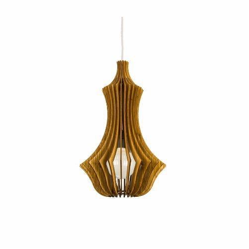Pendente Accord Iluminação Stecche Di Legno Suspenso Madeira Natural 45x27,5cm 1x E27 110v 220v Bivolt 1270 Sala Estar Cozinhas