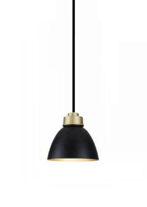 Pendente Newline Iluminação Industrial Conico Oval Metal Preto 21x25cm Lâmpada E27 25W SNT367PTDODO Sala de Jantar Quarto e Cozinha