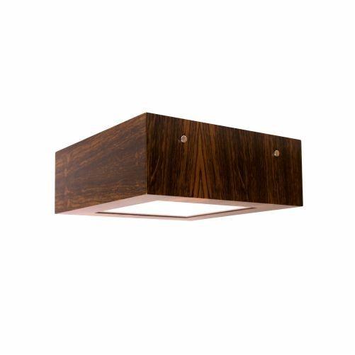 Plafon Accord Iluminação Clean Frame Sobrepor Quadrado Madeira Natural 12x40cm 3x E27 110v 220v Bivolt 507 Sala Estar Quartos