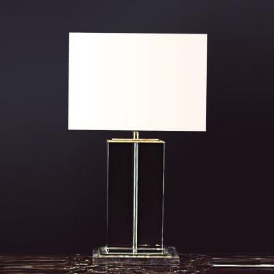 Abajur Bella Iluminação Classic Vidro Metal Cromo Cupula Ø42cm 1 E27 110v 220v Bivolt XL1115 Cabeceira Cama Criados Mudos