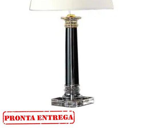 Abajur Bella Iluminação Classic Vidro Metal Cromo Cupula Ø45cm 1 E27 110v 220v Bivolt XL1206 Cabeceira Cama Criados Mudos