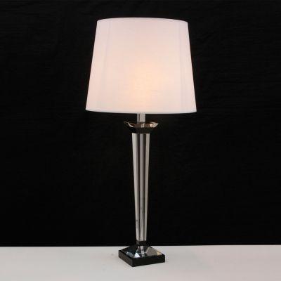 Abajur Bella Iluminação Classic Vidro Metal Cromo Cupula Ø65cm 1 E27 110v 220v Bivolt XL1521 Cabeceira Cama Criados Mudos